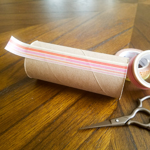 Leave Plenty of Over Hang with your Washi Tape Strips