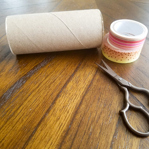 Toilet Paper Tube Ready to be Decorated with Washi Tape