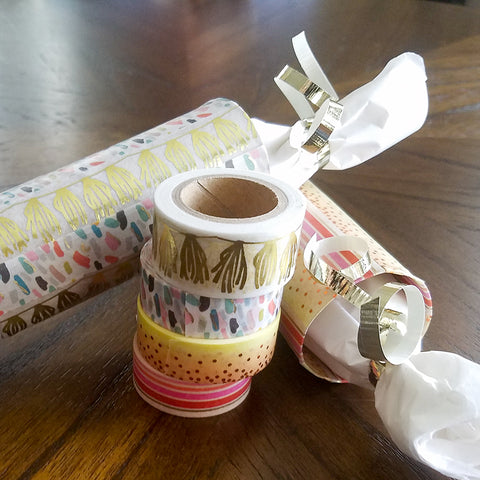 Beautiful Washi Tape Decorated Gift Packaging