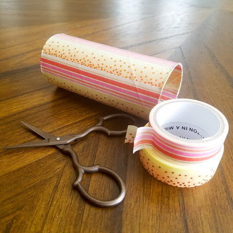 Fully Decorated Washi Tape Gift Tube