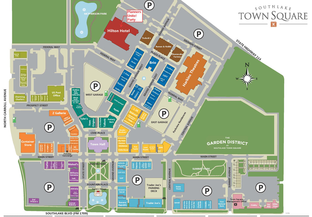 See more of this map of Southlake Town Square, the site of Planners Unite convention in North Texas