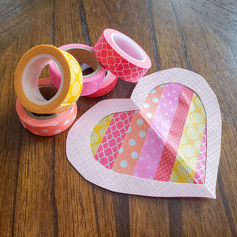 Heart Shaped Washi Tape Sun Catchers