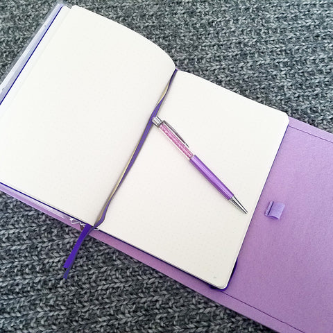 Hardbound Notebook with Pen in DIY TN