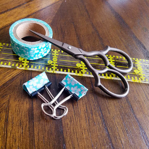 Finished Washi Tape Covered Binder Clips