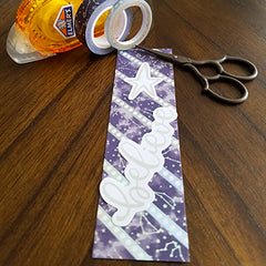 Washi tape bookmark with ephemera attached