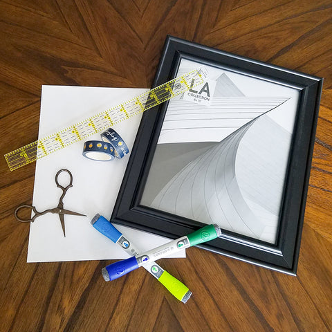 Supplies for Your DIY Washi Tape Dry Erase Note Board