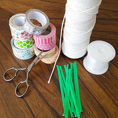 Supplies for Creating DIY Washi Tape Feathers