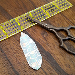 Cutting Into a Feather Shape for DIY Washi Tape Feathers
