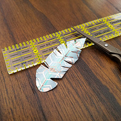 Finished DIY Washi Tape Feather