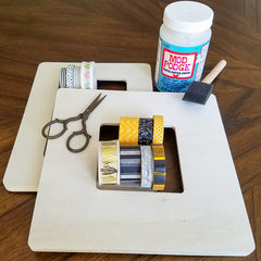 Supplies for DIY Washi Tape Picture Frames