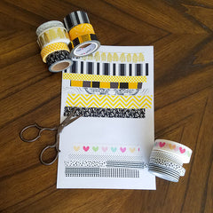 Swatches for DIY Washi Tape Picture Frames