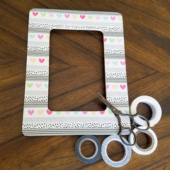 DIY Washi Tape Picture Frame, Trimmed