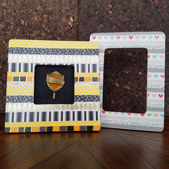 Finished DIY Washi Tape Picture Frames