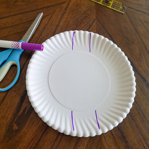 Initial Cuts for the Paper Plate and Washi Tape Treat Basket