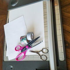 Supplies for Cutting Washi Tape with Decorative Edge Scissors