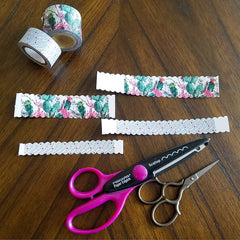 Decoratively Edged Washi Tape Tests