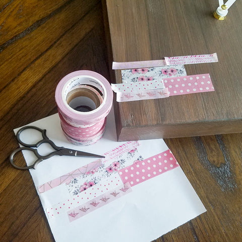 Testing Washi Tape Combinations for Your Clock