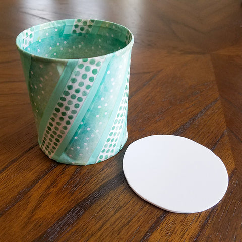 Fitting the Bottom Coaster to the Washi Tape Can