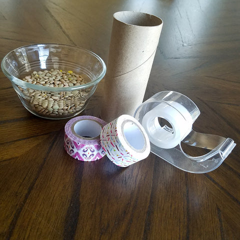 Supplies for Washi Tape Decorated Shaker Toy