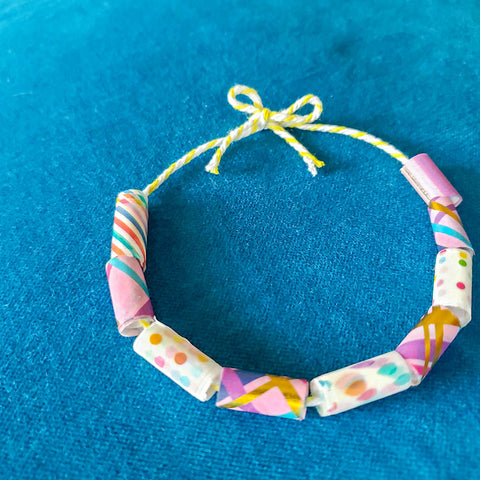 DIY Washi Tape Bead Bracelet