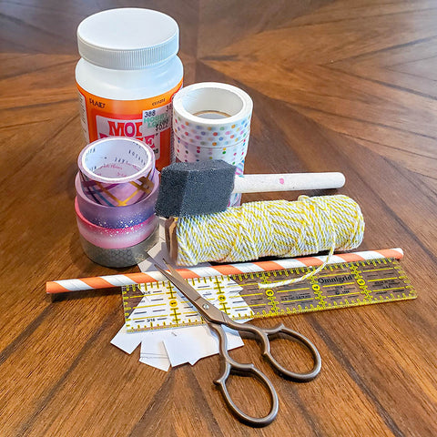 Supplies for DIY Washi Tape Beads