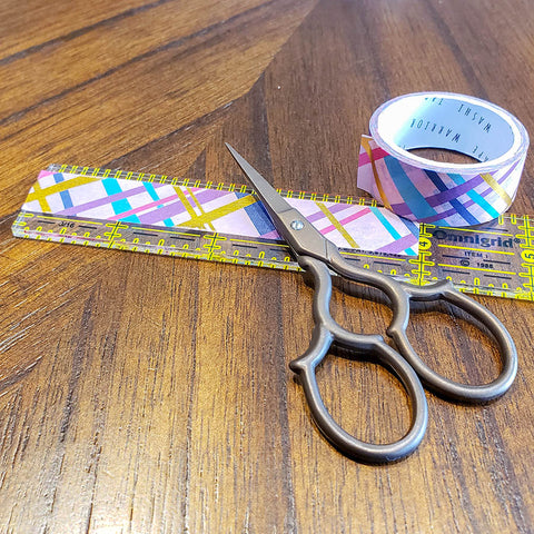 Preparing Washi Tape to Makes Washi Tape Beads