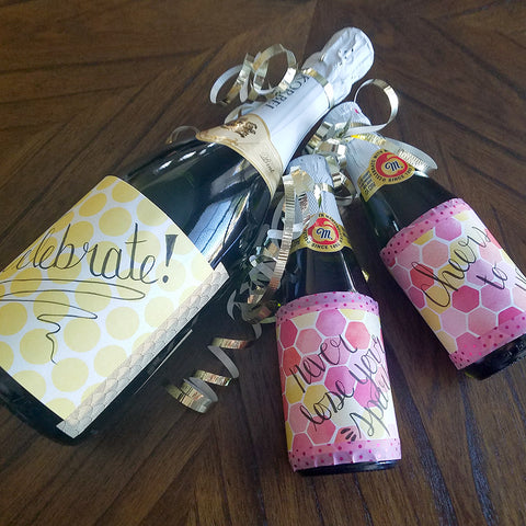 Trio of Bottles with Decorative Washi Tape Labels