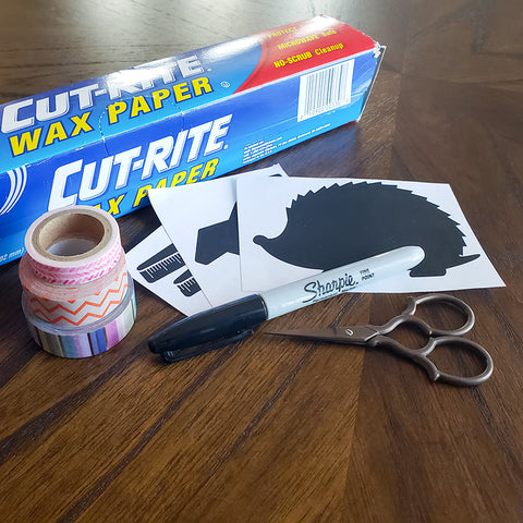 Supplies for Making Custom Washi Tape Stickers