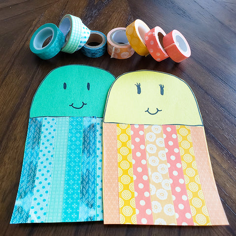 Decorating DIY Washi Tape Jellyfish Friends