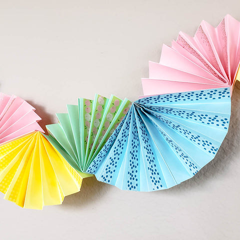 Beautiful Washi Tape Paper Fan Garland