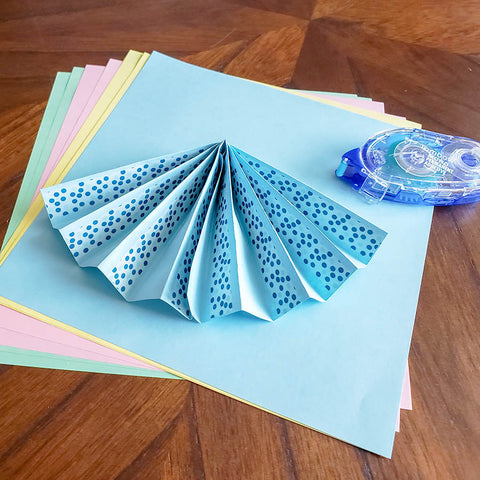 Single Finished Paper Fan with Washi Tape