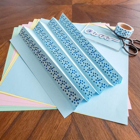 Applying Washi Tape to the Folded Paper