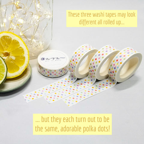 Washi Tape Warrior Polka Dot Washi Varriations
