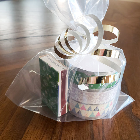 Finished Washi Tape Tea Light Gift