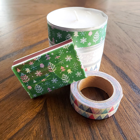 Washi Tape Tea Light Gift is Almost Complete