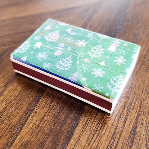 Finished, Washi Tape Decorated Match Box