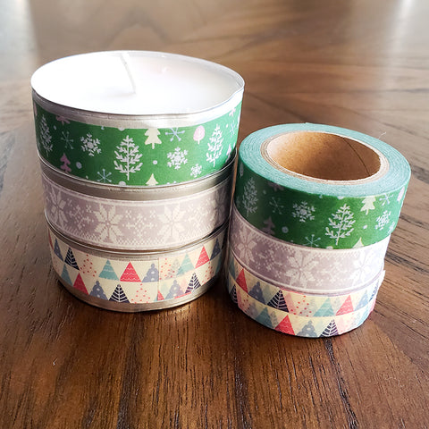 Washi-Wrapped Tea Lights