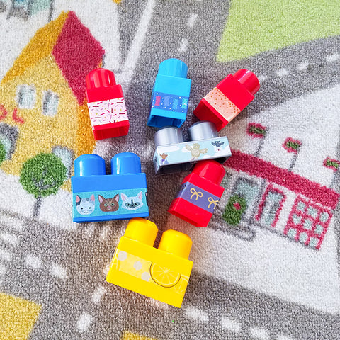 Update Washi Tape Building Blocks with My Son's Choices