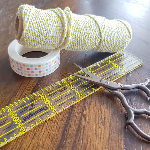 Supplies for DIY Washi Tape Tassels