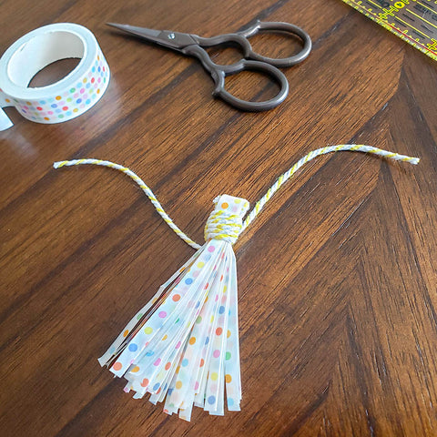 Finished DIY Washi Tape Tassel