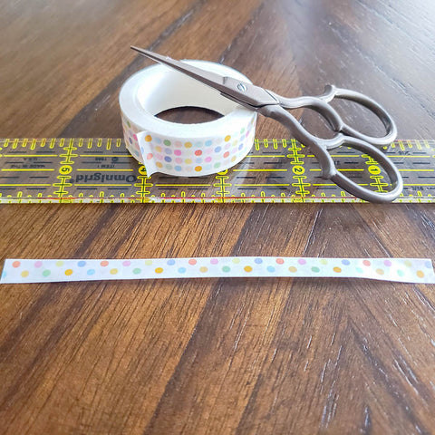 Folding Washi Tape for DIY Tassels