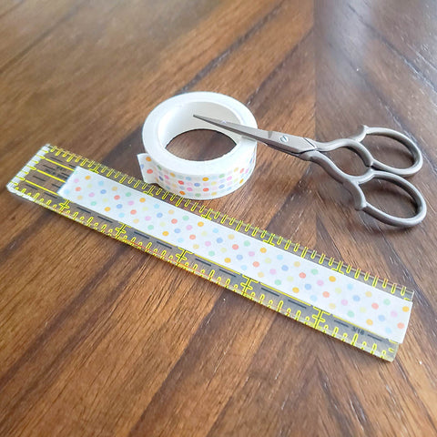 Cutting Washi for DIY Tassels