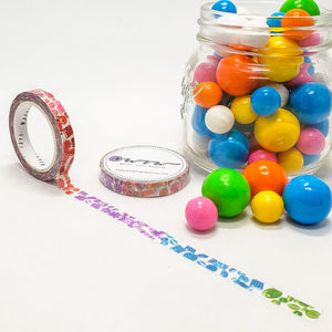 candy washi tape, rainbow of candy, bright colors, west coast planners candy shop event