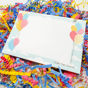 Balloons Sticky Note Pad