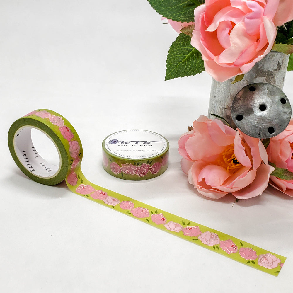 Floral Collection Foiled Floral Washi Tape Matching Planner Charm