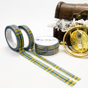 wizarding world washi tape, harry potter, house pride, blue and bronze, ravenclaw