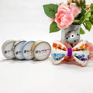 Floral Washi Set with Tulip Bow