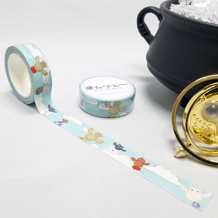 washi tape, owl post, happy mail owls, perfect for fans of Harry Potter and Hogwarts