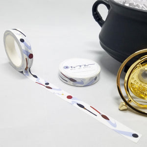 washi tape, broomsticks and quidditch balls, quaffle, bludger, snitch for Harry Potter fans