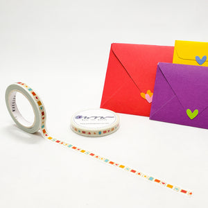 stamps, colorful and happy, ready for your happy mail deliveries, tiny stamps, little stamps